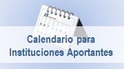 Calendario para Instituciones aportantes al FGDB